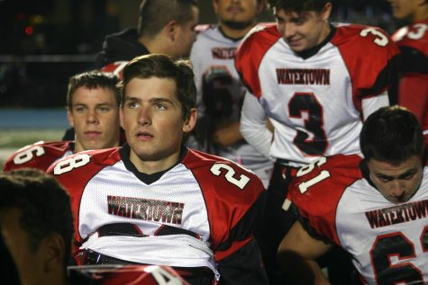 Conor Kennelly (28) and the Watertown High football team made the Middlesex League pay attention with a 28-0 shutout of host Wilmington on Friday, Oct. 14, 2016.