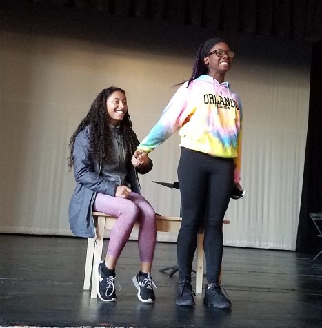 Yaiza Andujar (left) and Ashley Mawanda audition for the Watertown High Talent Show on Nov. 7, 2016. The Talent Show will be held Tuesday, Nov. 22, in the Watertown High School auditorium at 7 p.m.