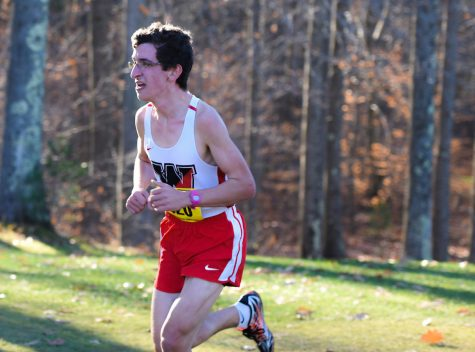 Watertown High senior James Piccirilli competes in the MIAA state Division 2 cross-country championships on Nov. 19, 2016, in Gardner. Piccirilli finished the 5K course in eighth place in 16 minutes 51 seconds.