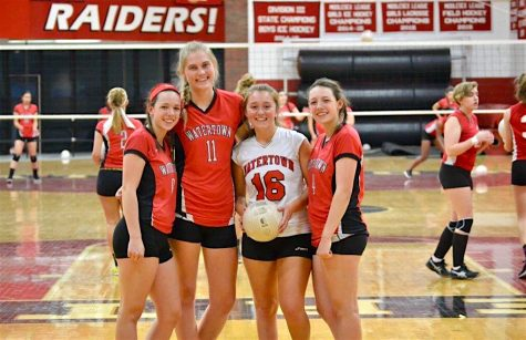The captains for the 2016 Watertown High School volleyball team.