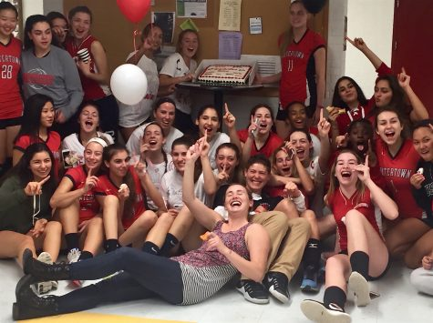 The Watertown High School volleyball team had good reason to celebrate this season after going 10-9 and earning a spot in the MIAA Division 2 North tournament for the first time.