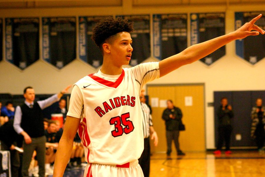 Vondre Chase and the Watertown High boys' basketball team are pointed toward the MIAA Division 3 North sectional final with their 58-46 victory over Lynnfield on Wednesday night, March 8, 2017, in Wilmington. With the victory, the top-seeded Raiders (20-2) will play sixth-seeded Bedford (17-6) on Saturday at 7 p.m. at Burlington High for the right to play in the state semifinals at TD Garden.