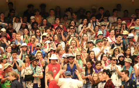 The Watertown High School fan section had a beach theme for Wednesday's game against Lynnfield -- with good results. For Saturday's game against Bedford, the theme will be USA.