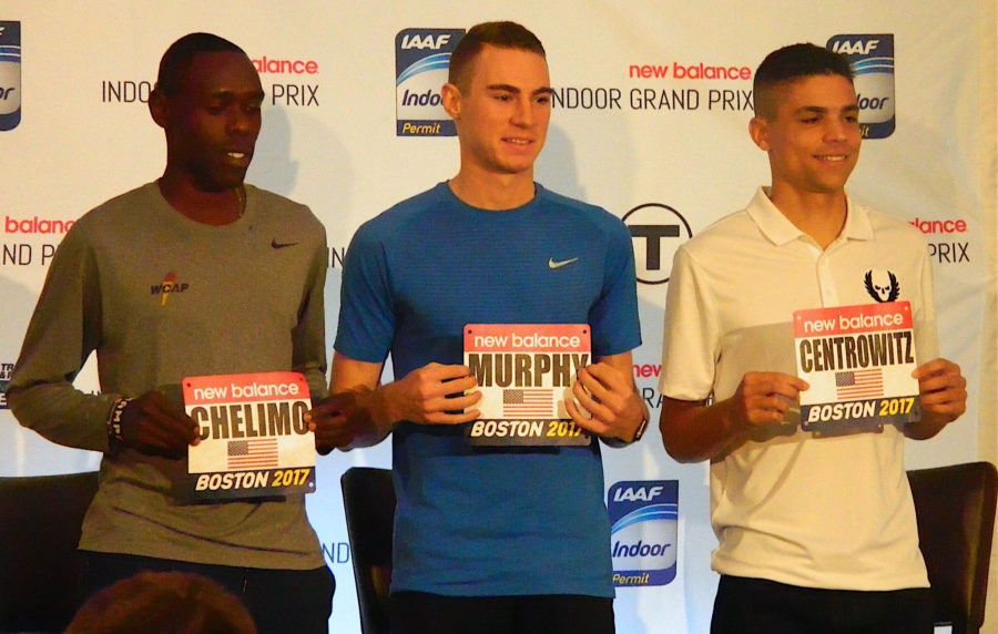 US+Olympians+Paul+Chelimo%2C+Clayton+Murphy%2C+and+Matthew+Centrowitz+pose+during+a+press+conference+held+at+the+Lenox+Hotel+prior+to+the+2017+New+Balance+Indoor+Grand+Prix+in+Boston.+%28Jan.+27%2C+2017%29