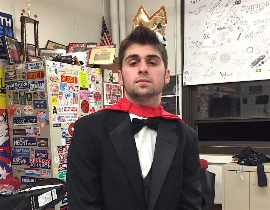 Danny+Farrar+wears+the+crown+well+after+winning+the+title+of+Mr.+WHS+2016+on+March+31%2C+2016%2C+at+Watertown+High+School.+