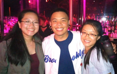 AJ Rafael (center) poses with Raider Times reporters following a recent dress rehearsal for