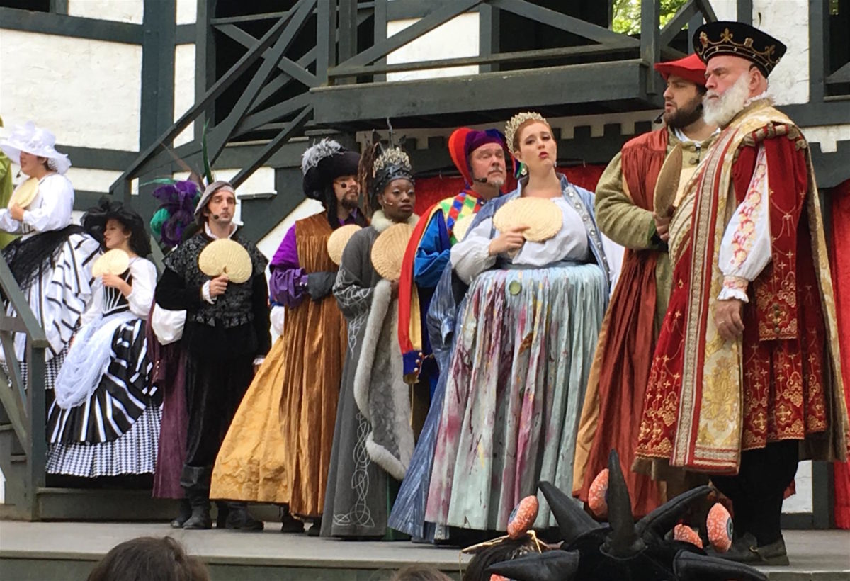 King Richard himself (right) performs in the musical, one of the many free shows to be found at King Richard's Faire in Carver, Mass., through Oct. 22, 2017.