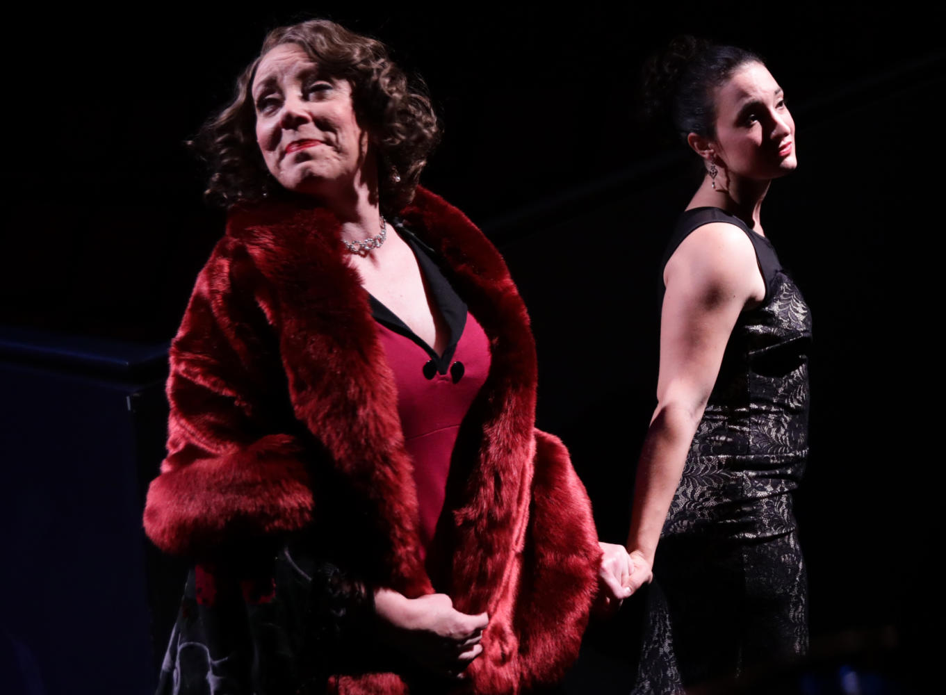 Leigh Barrett (left) is Rose and Kirsten Salpini is Louise in in Lyric Stage's production of