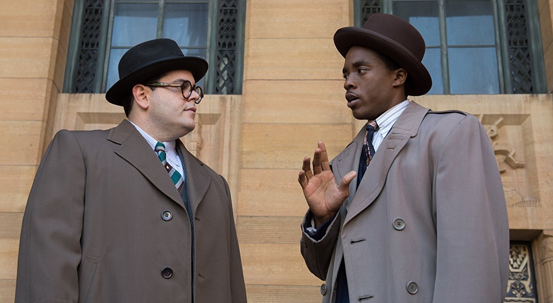 Josh Gad (left) and Chadwick Boseman in