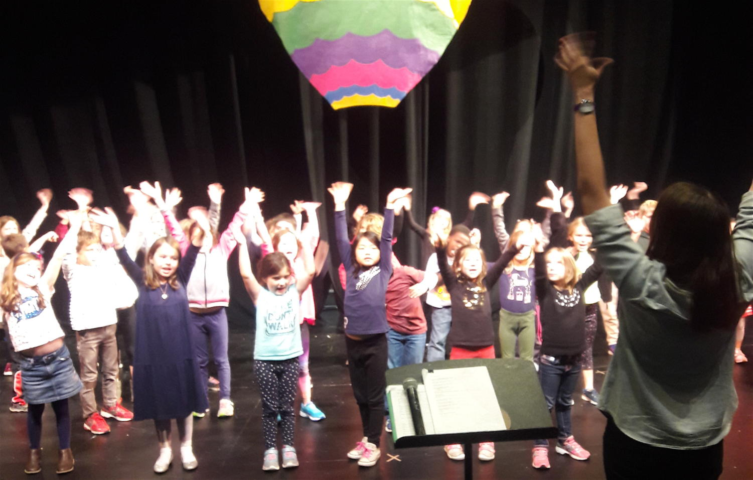 The youngest performers at Watertown Children's Theatre prepare for their next show,