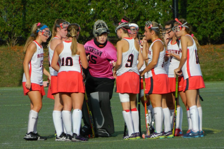 The Watertown High field hockey team won its 17th straight game on Nov. 3, 2017, beating Swampscott at Victory Field, 3-0, in the MIAA Division 2 North quarterfinals.
