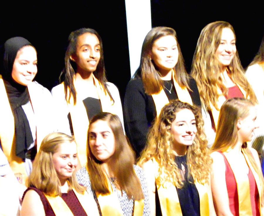 Watertown High School inducted 42 juniors and seniors into the National Honor Society during ceremonies Nov. 8, 2017.