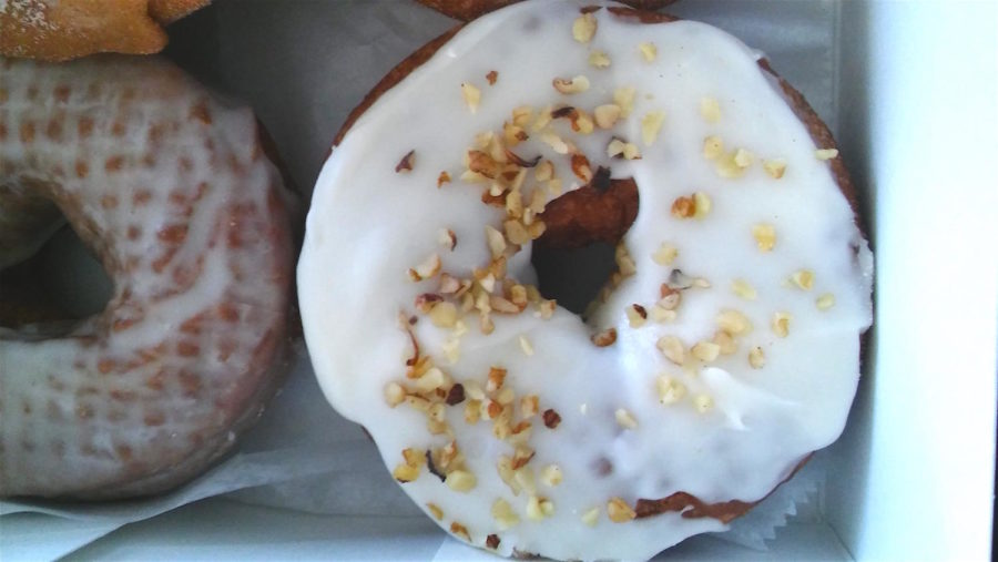 The carrot cake donut at Kane's Donuts in Boston.