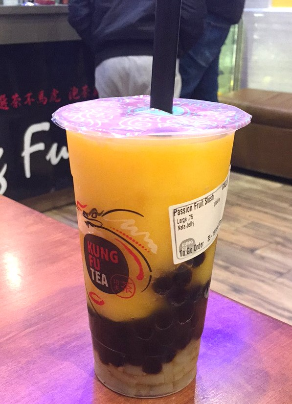 Passion+fruit+slush+at+Kung+Fu+Tea+in+Allston.