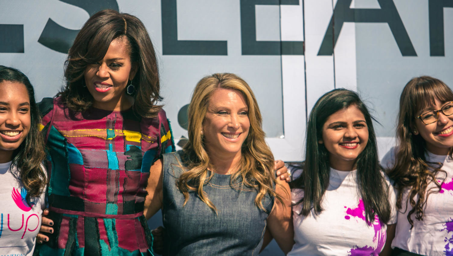Shelley Zalis (center) had plenty of support while celebrating International Women's Day on the White House Lawn.