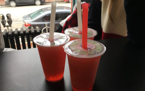 Splash of Flavor 2017: Raspberry tea with strawberry popping boba at Boston Tea Stop