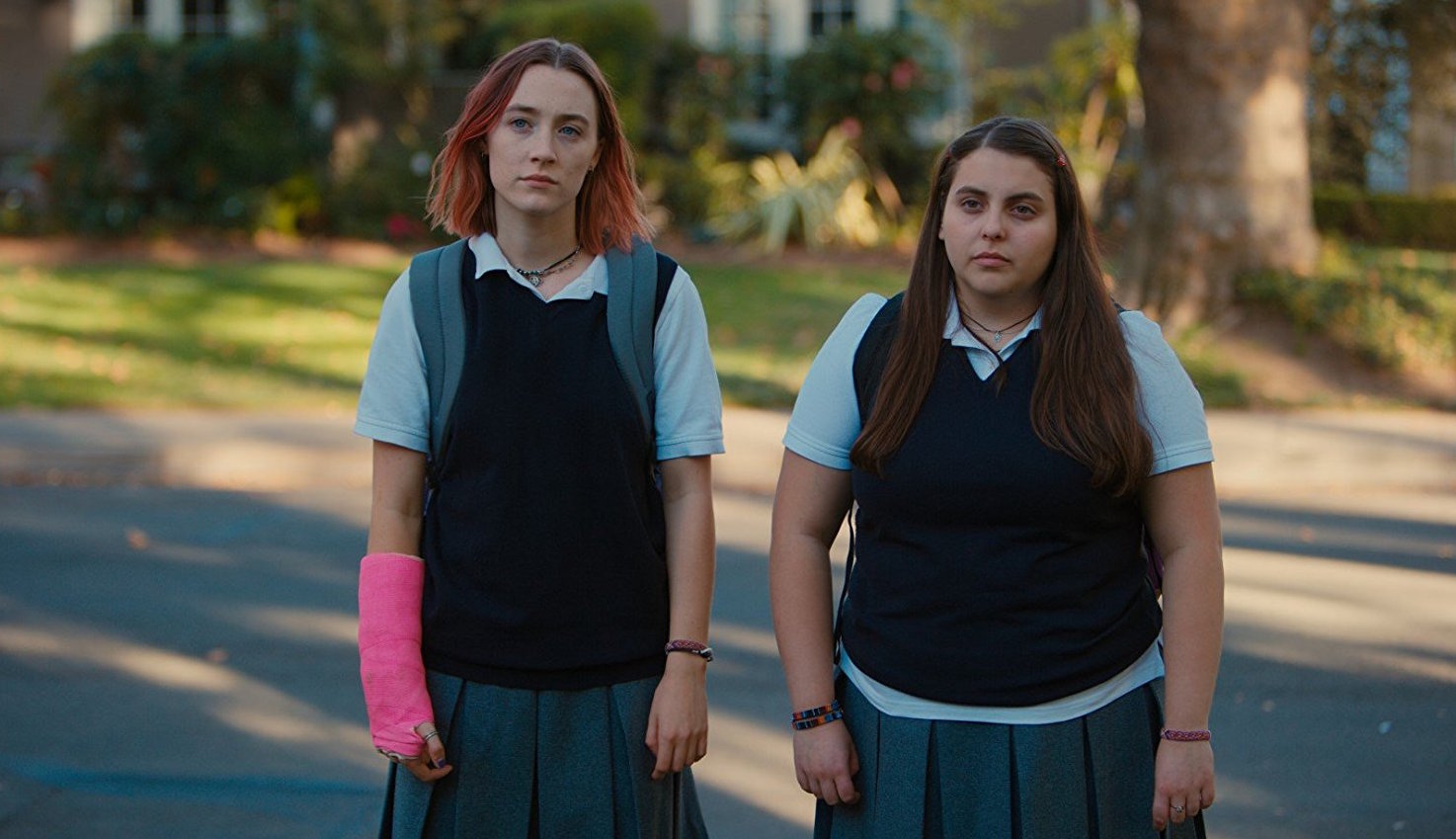 Saoirse Ronan (left, pictured with Beanie Feldstein) stars in