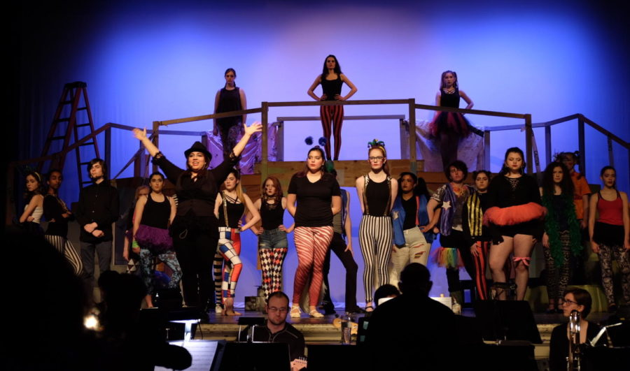 Watertown+High+School+staged+%22Pippin+on+March+15-17%2C+2018%2C+which+featured+Sandra+Chaco+%28left%29+as+Lead+Player.