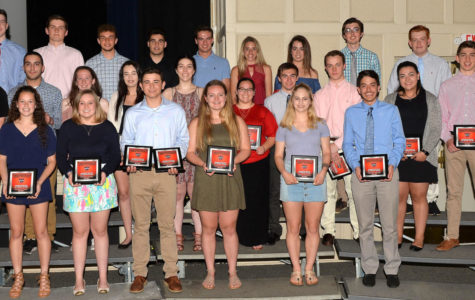 Student-athletes from the Watertown High School Class of 2018 were honored at the Senior Sports Awards banquet on May 17, 2018.