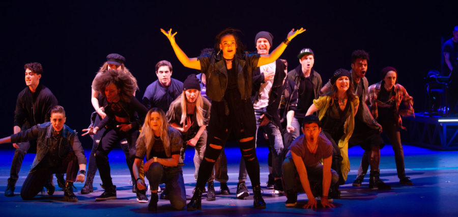 The chorus has a prominent role in Jagged Little Pill at the American Repertory Theater.