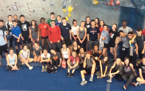 At Central Rock Gym, this Project Adventure class climbed out of its shell