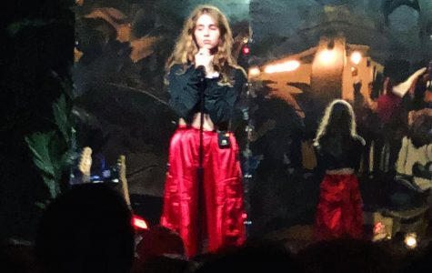 Clairo performs during her set The Sinclair in Cambridge, Mass., on July 20, 2018.