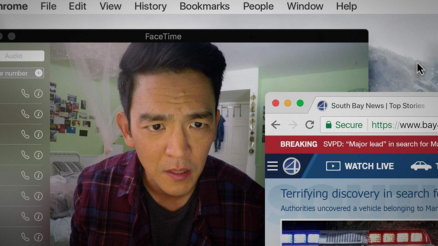 John Cho plays a father looking for his missing 16-year-old daughter in