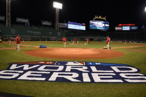 Fenway Park prepares for World Series in style
