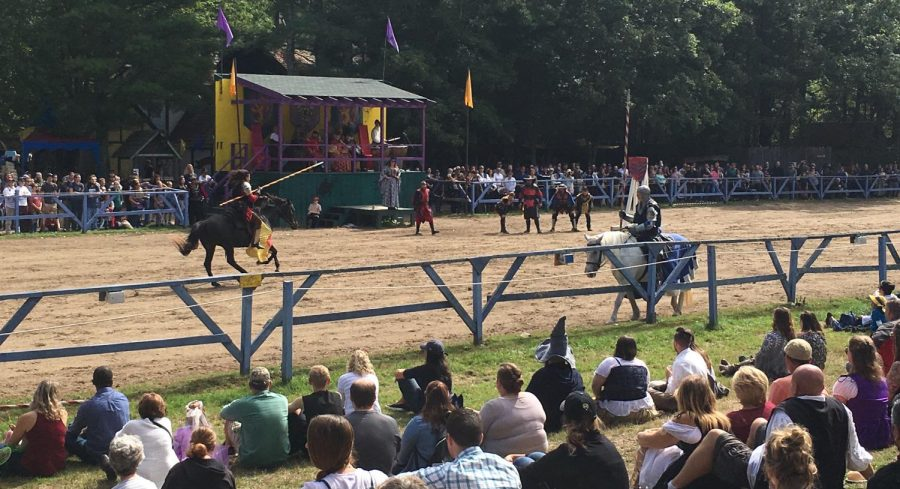 The jousting field is always full of excitement at King Richard's Faire in Carver, Mass.