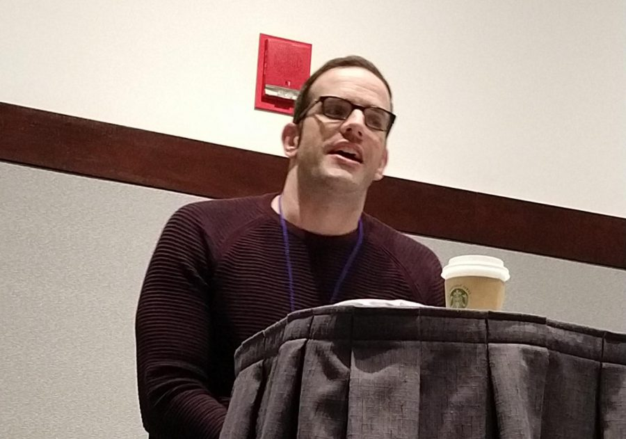 J. Michael Tatum answered questions and talked about his career at