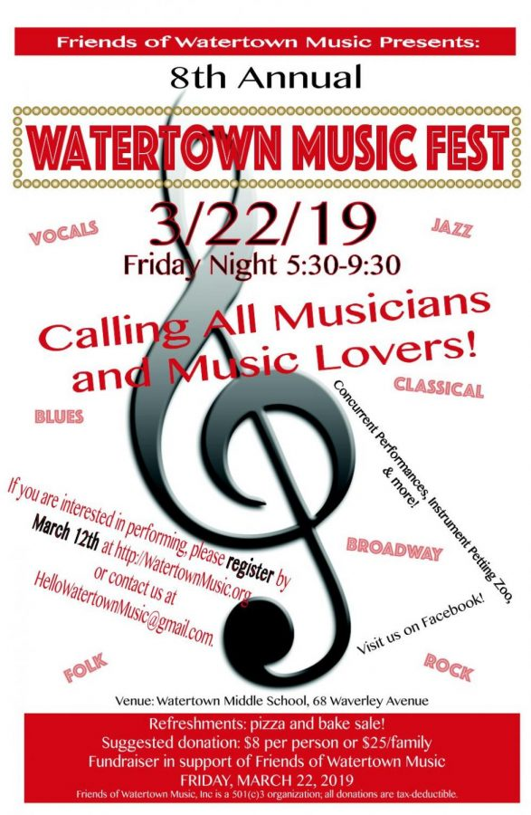 Musicians needed for Watertown MusicFest
