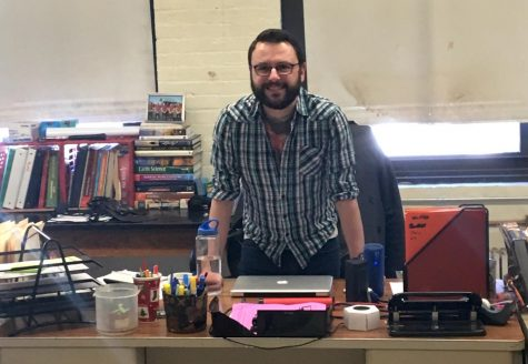 When not teaching, Michael Boyd runs the comic, graphic novel, and animation club at Watertown High.