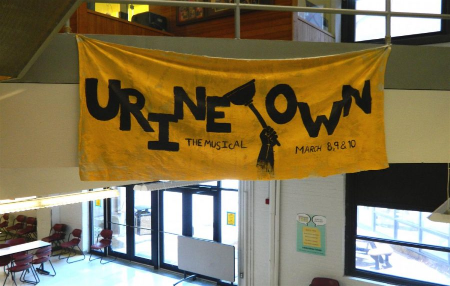 The musical Urinetown will be performed in the Watertown High School auditorium on March 8, 9, and 10.