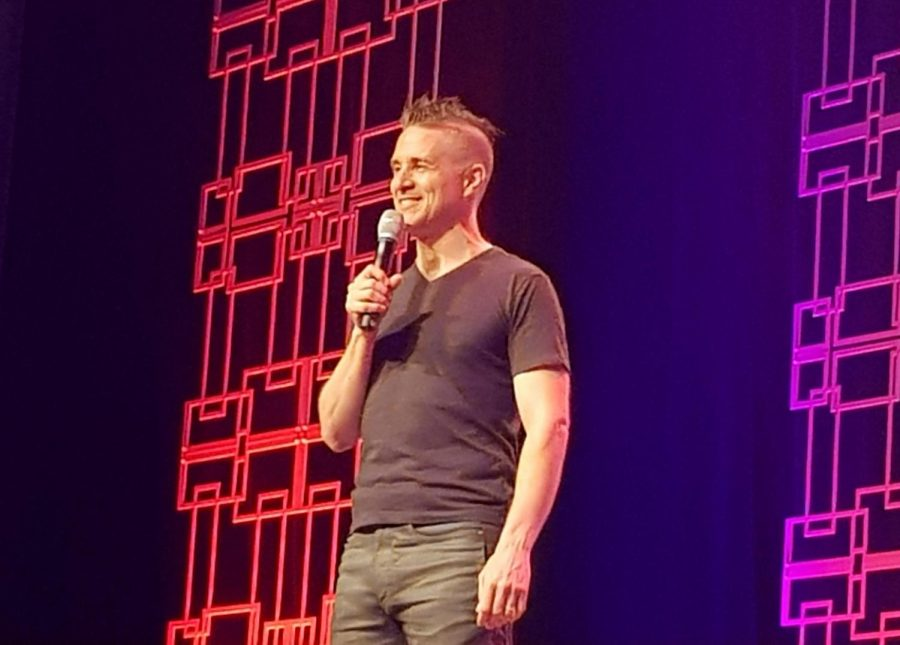 Yuri Lowenthal during opening day of Anime Boston 2019 at Hynes Convention Center on Friday, April 19..