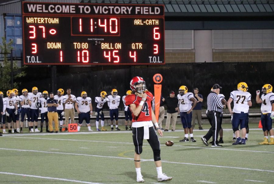 Senior+quarterback+Brennan+Cook+%284%29+helped+lead+the+Watertown+High+football+team+to+a+43-6+season-opening+win+over+Arlington+Catholic+at+Victory+Field+on+Friday%2C+Sept.+13%2C+2019.