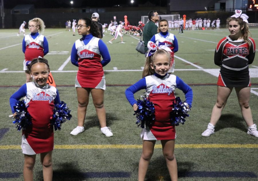 It was Youth Night at Victory Field as younger cheerleaders and football players were showcased at Victory Field when the Watertown High School football team played Burlington on Sept. 27, 2019.