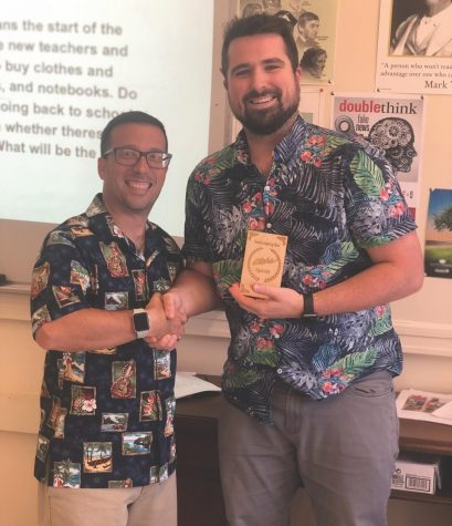 Aloha Fridays have brought a sense of community from the Hawaiian Islands to the halls of Watertown High School this fall, thanks to history teacher David Mastro (left).