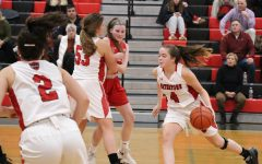 Ashley Shaughnessy (4) and the Watertown High girls' basketball team defeated visiting Wakefield, 43-42, on opening night, Dec. 13, 2019.