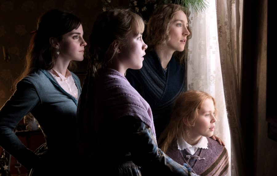 "Emma Watson, Saoirse Ronan, Florence Pugh, and Eliza Scanlen star in ""Little Women""."