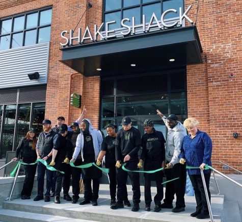 The ribbon-cutting ceremony marked the official opening of the new Shake Shack restaurant at Arsenal Yards in Watertown on Dec. 21, 2019.