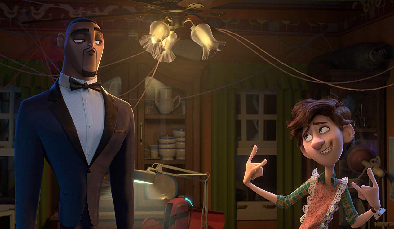 Lance Sterling (voiced by Will Smith, left) and Walter Beckett (voiced by Tom Holland) team up in