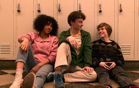 Sofia Bryant (left), Wyatt Oleff (center), and Sophia Lillis star in