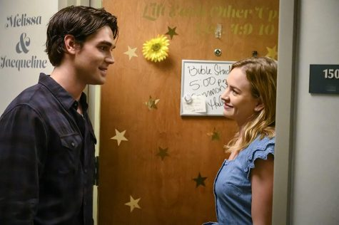 "K.J. Apa (left) and Britt Robertson star in ""I Still Believe."""