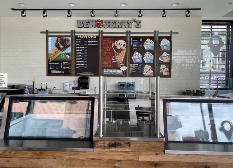 The newest Ben & Jerry's location is open for business at the Arsenal Yards complex in Watertown.