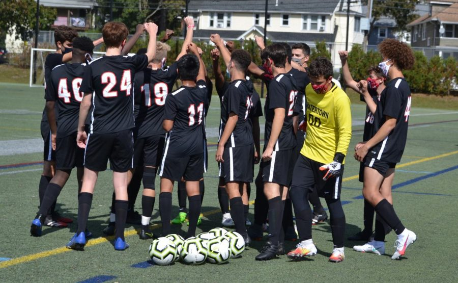 Watertown junior varsity boys' soccer takes the field