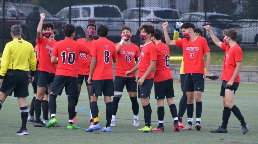 Senior-led Watertown High boys' soccer team finally back on field