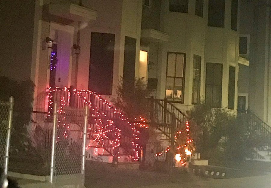 A home in Watertown, Mass., is decorated for Halloween 2020.