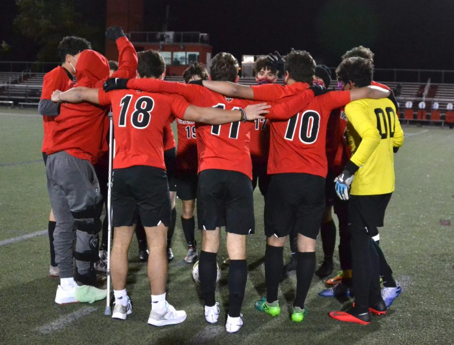Scenes from the Watertown High boys' soccer team's Senior Night game with Burlington at Victory Field in Watertown on Nov. 2, 2020.