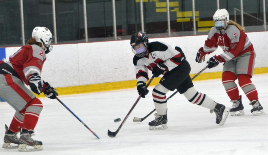 The Watertown High girls' hockey team improved to 4-0 with a 5-1 victory over Wakefield at John A. Ryan Arena on Friday, Jan. 22, 2021.