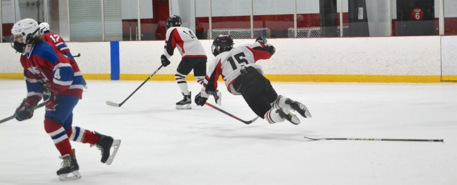 The Watertown JV boys' hockey team lost to Burlington, 4-2, on Feb. 12, 2021, at John A. Ryan Arena in Watertown.